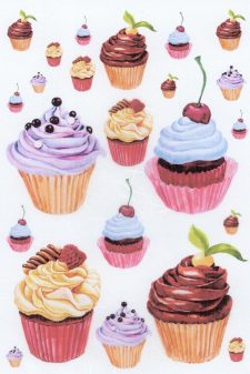 Italian Rice Paper Sheet for Decoupage | Cupcakes