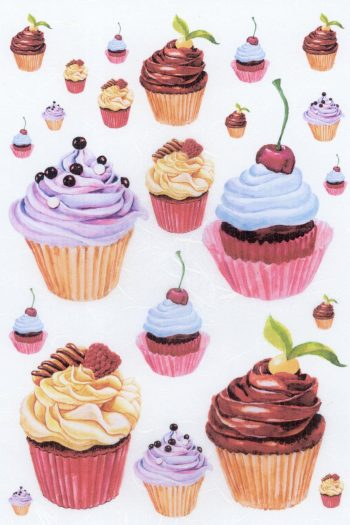 Italian Rice Paper Sheet for Decoupage   Cupcakes