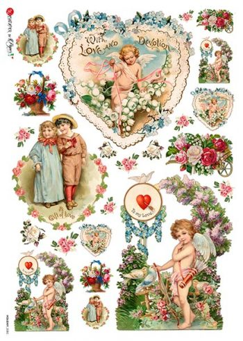 Italian Rice Paper   Young Love & Cupid