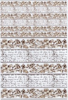 Rice Paper for Decoupage Flowers Letter