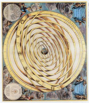 Decoupage Rice Paper Sheet Vintage Planetarium & Zodiac