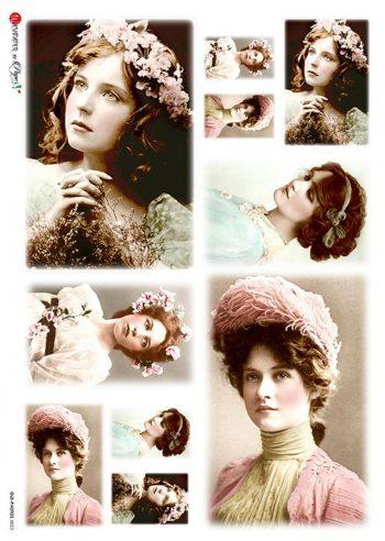 vintage lady portrait