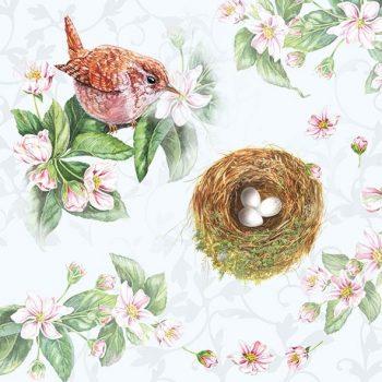 Paper Napkin with Bird & Nest