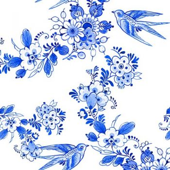 Paper Napkins | Birds & Flowers in Blue