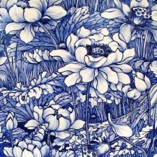 Paper Napkins | Blue Porcelain China Flowers