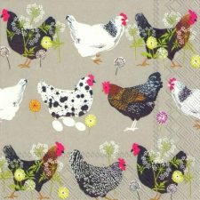 Paper Napkins of Chickens
