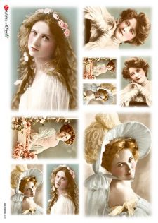 Rice Paper Sheet l Photos of Vintage Ladies