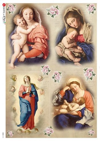 Rice Paper for Decoupage | Baby Jesus & St. Mary