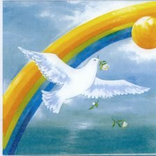 Paper Napkins Rainbow and Dove Gods Covenant