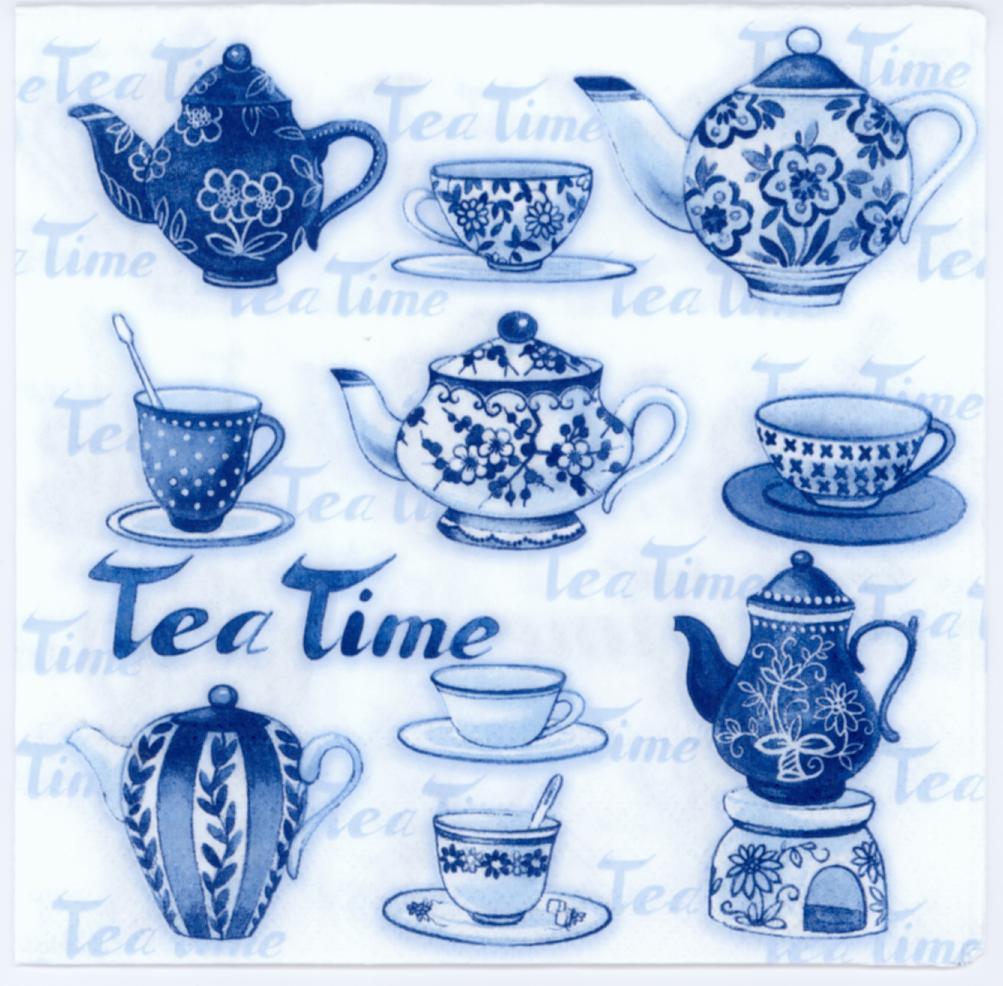 4 x VINTAGE table serviettes en papier craft//bureau//DECOUPIS//Tea Party
