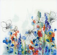 wild flower in watercolor