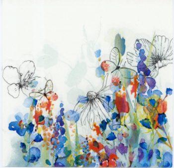 wild flower in watercolor