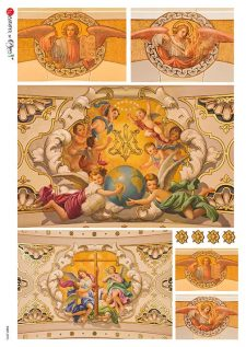 Decorative Rice Paper for Decoupage Angels