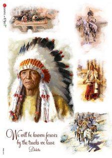 Decoupage Rice Paper Native American Motifs