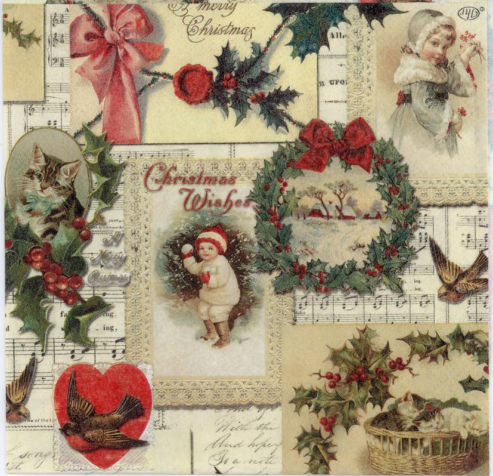 Decoupage Napkins Vintage Christmas Images All In One