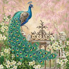 Paper Napkin Peacock in Royal Garden