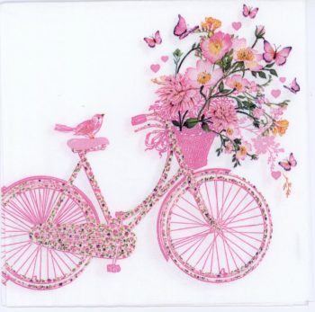 bike birds flowers
