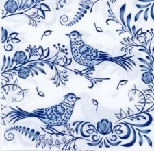 blue birds in porcelain