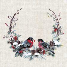 Birds in the wreath