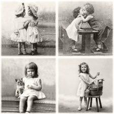 Happy Vintage children