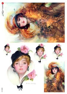 Decorative Italian Rice Paper Vintage Fashion Ladies