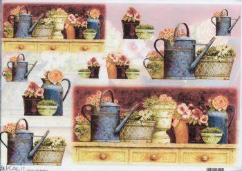 Decoupage Rice Paper Flower Pots
