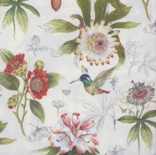 Decoupage Paper Napkins | Flowers and Hummingbird  | Bird Napkins | Floral Napkins | Cocktail Napkins | Paper Napkins for Decoupage