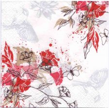 Decoupage Paper Napkins | Japanese Flowers Birds Butterflies | Paper Napkins for Decoupage