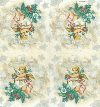 Decoupage Paper of  Christmas Angel Napkins