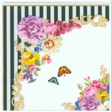 Decoupage Napkins of Classic Rose and Butterflies