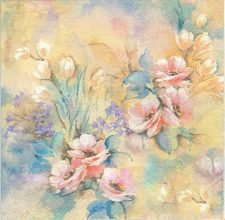 Decoupage Paper of  Pastel Rose Dream Napkins