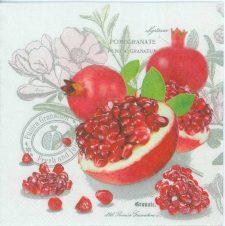 Decoupage Paper Napkins of Pomegranates