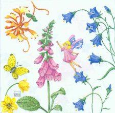 Decoupage Paper of Summer Garden of Fairies Napkins