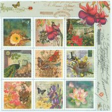 Decoupage Napkins of Vintage French Post Stamps