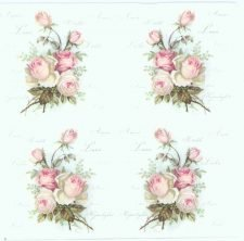 Decoupage Napkins of Vintage Small Roses of Amour