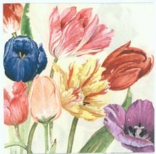 Decoupage Napkins of Tulip Garden