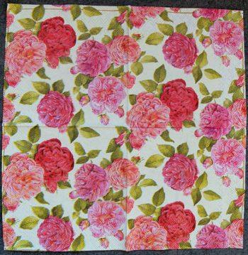 Decoupage Paper Art Napkin - Rose Beauty