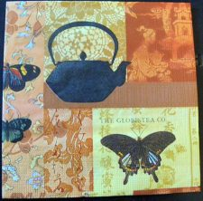 Decoupage Paper Art Napkin | Tea and Butterflies