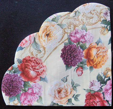 Round Party Napkins Of Rose Symphony Decoupage Paper