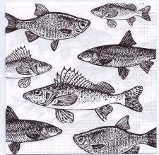 Decoupage Paper Art Napkin | Angler's Delight
