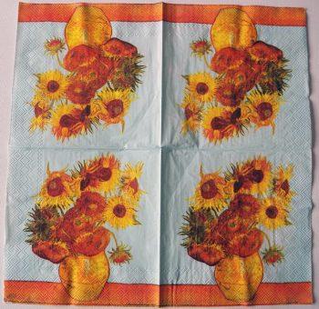 Decoupage Paper Art Napkin   Van Gogh's Sunflowers