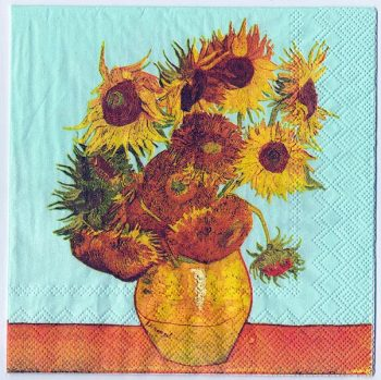 Paper Napkins Van Gogh's Sunflowers