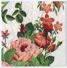 Decoupage Paper Art Napkin | Roses in the Family Garden