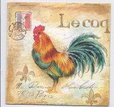 Decoupage Paper Art Napkin | Le Coq (The Rooster)
