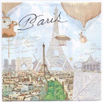 Paper Napkins of Paris Airships & Balloons