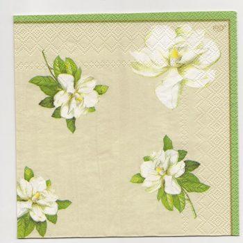 Decoupage Paper Art Napkin   Glorious Magnolias