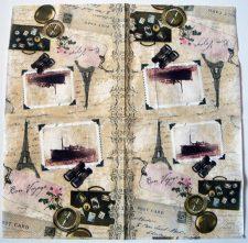 Decoupage Paper Art Napkin | Bon Voyage