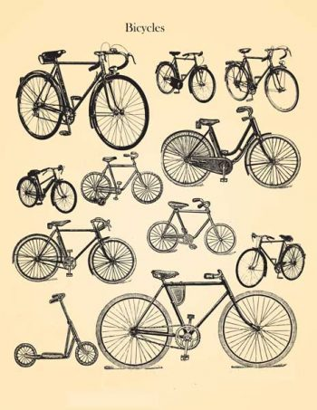 Decoupage Instant Download   Vintage Bicycles