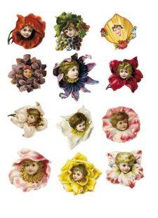 Decoupage Instant Download | Flower Babies