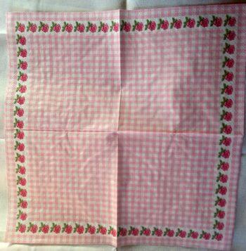 Decoupage Paper Art Napkin | Rose Fringe Pattern